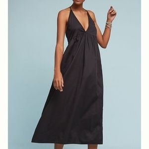 ANTHROPOLOGIE LACAUSA BLACK T BACK DRESS SUNDRESS